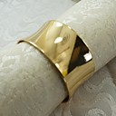 Gold Metal Napkin Ring Christmas, Alloy, 1.77Inch, Set of 12