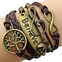 Fashion Leather Multilayer Believe Wrap Bracelet