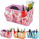 Falten Blumenmuster Kosmetik Speicherstandkasten Make-up Pinsel Topf kosmetische Veranstalter