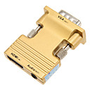 0.1m 0.328ft HDMI hembra a VGA macho + cable de conexión de audio hd hembra - oro