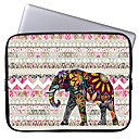 Elonbo Beautiful Stripe and Exotic Elephant 13'' Laptop Waterproof Sleeve Case Bag for Macbook Pro/Air Dell HP Acer