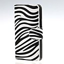 Zebra Pattern PU Leather Case Cover with Stand and Card Slot for Samsung Galaxy A3