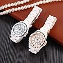 damemode høj efterligning keramik kvalitet kvarts armbåndsur (assorterede farver)