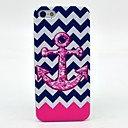 Pink Wave Anchor Pattern Hard Cover Case for iPhone 5/5S