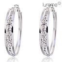 Lureme®5cm Claw Crystals Hoop Earrings