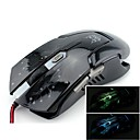 JITE JT06 Flashing Light Gaming Wire Mouse 6 Buttons DPI2000