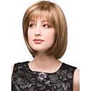 Fashionable Mixed Gold  Short Straight Full Bang Hair Wig