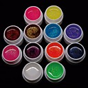 Buy Cheapest 1Mixs Pure Color UV Gel Manicure Nail Tips