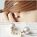 Buy Earring Flower Stud Earrings Jewelry Women Wedding / Party Daily Casual Gold Plated