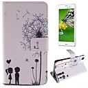 Couples Dandelion Pattern PU Leather Full Body Case with Stand and Protective Film for Sony Xperia Z3