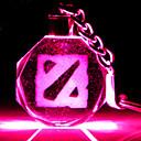 DOTA2 Logo Crystal LED Flashlight Keychain