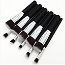 10pcs Silver Tube Black Handle Cosmetic Makeup Brush Set