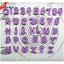 tegnefilm alfabetet plast cookie cutter 36 stk