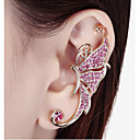 European Diamond Butterfly Alloy Ear Cuffs(White,Purple)(1Pc)