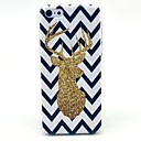 The Wave Reindeer Pattern Hard Cover Case for iPhone 5/5S