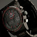 Men's Full Steel Sport Watch Japanese Quartz Analog-Digital LED/LCD/Multifunctional/Water Resistant/Alarm Military Clock