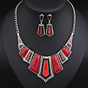 Europe And America Style Atmosphere Jewelry Set (Necklace,+Earrings)(More Colors)
