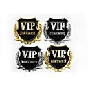 Buy 3D Metal Auto Logo Car Sticker VIP Decals/Alloy Engine Cover Emblem/Custom Window Decals