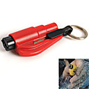 Window Glass Breaker Hammer Seat Belt Cutter with Keychain Mini Car Rescue Emergency Tool (Random Color)
