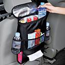asiento del vehículo organizador caja de pañuelos bolsa multifuncional térmica de enfriamiento organizador compartimento colgando