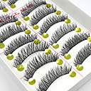 Buy 10 Pairs Handmade Natural Long Black False Eyelashes Cross Soft Thick Fake EyeLashes Makeup Extensions
