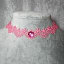 handgjorda eleganta klassiska rosa lolita halsband