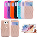 5.1 Inch Window Pattern PU Wallet Leather Case for Samsung GALAXY S6 G9200(Assorted Colors)