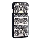 Henna White Floral Paisley Flower Mandala Plastic Case for Iphone6 plus