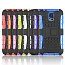 Tire Wave Pattern TPU Back Case with Holder for Samsung Galaxy S5