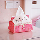 Lovely Cloth Art Rectangle Tissue Boxes(Random Color)