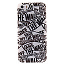 Cartoon Letters TPU Soft Case for iPhone 5/5S