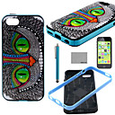 Buy COCO FUN® Green Eyes Cat Pattern Soft TPU Back Case Cover Screen Protector Stylus iPhone 5C