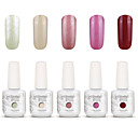 Buy Gelpolish Nail Art Soak UV Gel Polish Color Manicure Kit 5 Colors Set S114