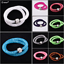 Eruner® Hot sale Mesh Double Stardust Bracelets With Crystal Stones Filled Magnetic Clasp Charm Bracelets Bang