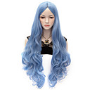 Buy 80cm U Party Curly Cosplay Wig Multi colors available Sky Blue