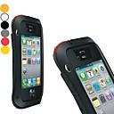 LOVEMEI Powerful Aluminum Bumper Outdoor Gear Armor Waterproof Hard Case for iPhone 4/4S(Assorted Colors)