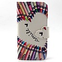 Smile Pattern PU Leather Case with Card Slot and Stand for Samsung Galaxy S4 mini/S3mini/S5mini/S3/S4/S5/S6/S6edge