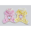 Dog Hoodie / Pajamas / Clothes/Clothing Pink / Yellow Winter Polka Dots