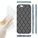 Black and white Argyle Pattern TPU Soft Back Case for iPhone 6/6S