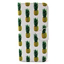 Pineapple Pattern PU Leather Case with Card Slot and Stand for Samsung Galaxy S4 mini/S3mini/S5mini/S3/S4/S5/S6/S6edge