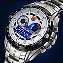 남성 시계 일본 쿼츠 스포츠 시계 LED / 달력 / 방수 / 듀얼 타임 존 / 경보 스테인레스 스틸 밴드 손목 시계