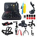 16-in-1 kit d'accessoires avec housse de transport pour GoPro hero4 hero3 + GoPro GoPro HERO2 hero3 caméras d'action