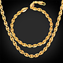 Buy U7® Women Gold Jewelry 18K Real Plated New Trendy Little Beads Eyes Shaped Fancy Chain Necklace Bracelet Set