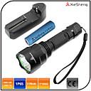 Lampes Torches LED (Etanche / Rechargeable / Résistant aux impacts / diri) LED 5 Mode 1600 lumens Lumens Cree XM-L T6 18650 -