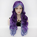 Buy 70cm Long Wavy Anime Cosplay Party Women Lady Sexy Harajuku Wig wigs mix color