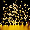 cadena de luz GMY Navidad 100LED luz solar blanco cálido / blanco frío