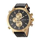 Buy JUBAOLI® Men's Military Design Fashion Gold Case Leather Band Quartz Wrist Watch Cool Unique