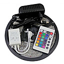 5M 300X3528 SMD RGB LED Strip Light and 24Key Remote Controller and 3A EU Power Supply (AC110-240V)
