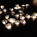 太陽愛ハート形の文字列6.5メートル30LEDライトファインパーティーライトの結婚式のデコレーションライト屋外防水ライト