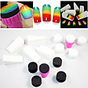 15pcs Nail Art Sponge Change Color Makeup Replacement,Halloween Pigment Sponge